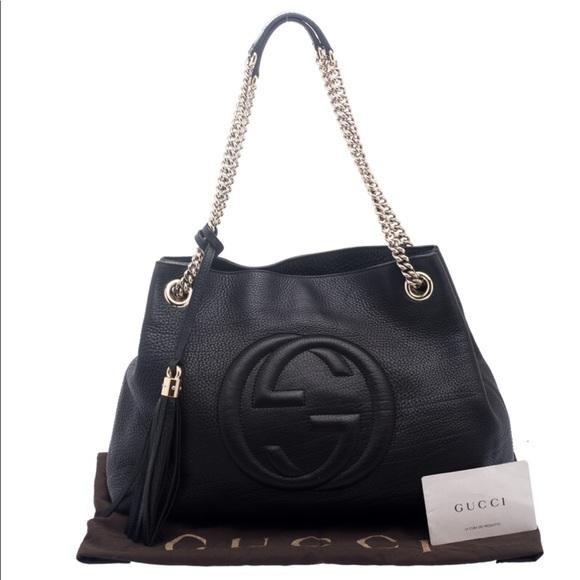 b04bef1c28e Gucci Handbags - ✨SALE✨ 💕Gucci Black Pebbled Leather Soho Tote💕